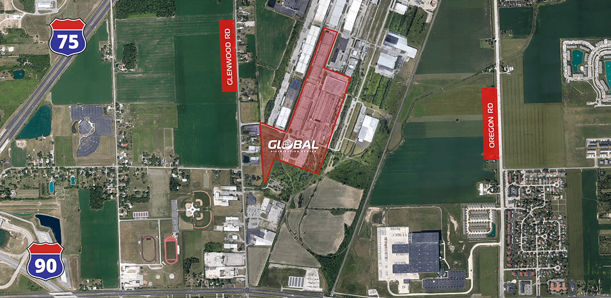 Global Distribution Aerial Site Map